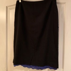 EUC Express pencil skirt with adjustable slit